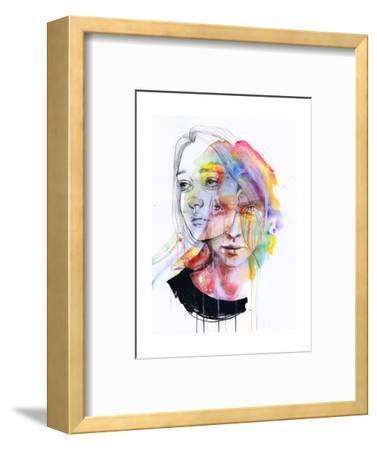 Girls Change Colors-Agnes Cecile-Framed Art Print
