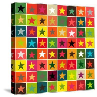 Christmas Boxed Stars-Sharon Turner-Stretched Canvas Print