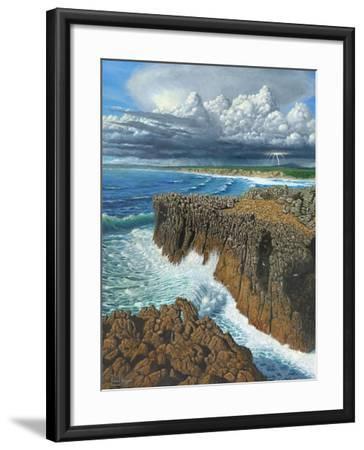 Atlantic Breakers Pontal Portugal-Richard Harpum-Framed Art Print