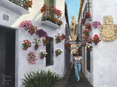 Calleje De Las Flores Cordoba-Richard Harpum-Framed Art Print