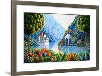 Teal Lake-Andy Russell-Framed Art Print