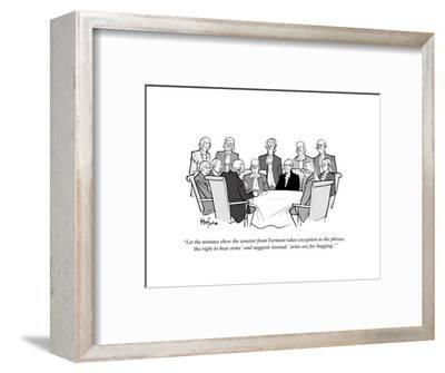 """""""Let the minutes show the senator from Vermont takes exception to the phra?"""" - Cartoon-Kaamran Hafeez-Framed Premium Giclee Print"""
