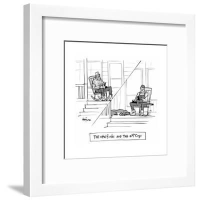 The @Hatfields and the @McCoys - Cartoon-Kaamran Hafeez-Framed Premium Giclee Print