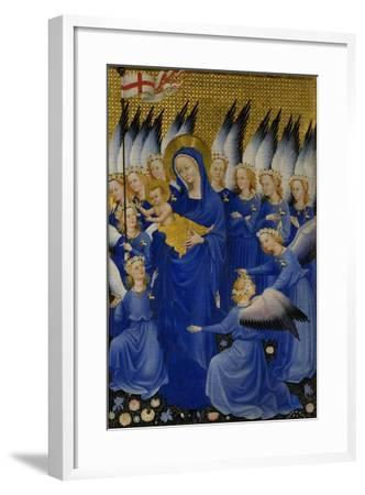 Mary with Child and Angels, Right Panel of Wilton Diptych--Framed Giclee Print