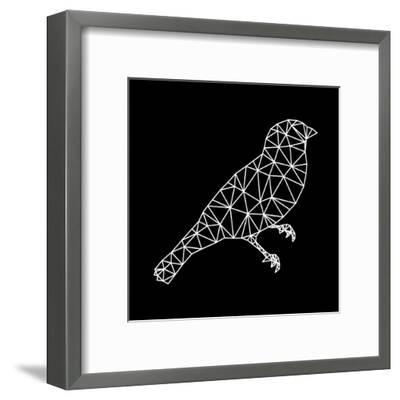 Bird Polygon Black-NaxArt-Framed Art Print