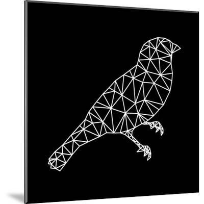 Bird Polygon Black-NaxArt-Mounted Art Print
