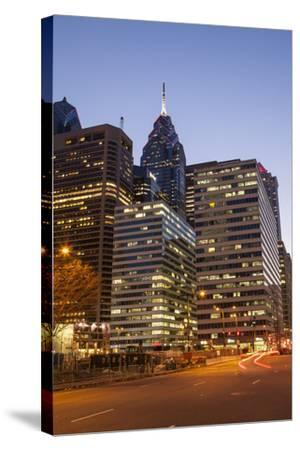 Highrise Office Towers and Hotels in the Downtown Financial District of Philadelphia-Richard Nowitz-Stretched Canvas Print