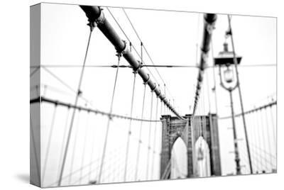 Cables Suspended from the Brooklyn Bridge-Kike Calvo-Stretched Canvas Print