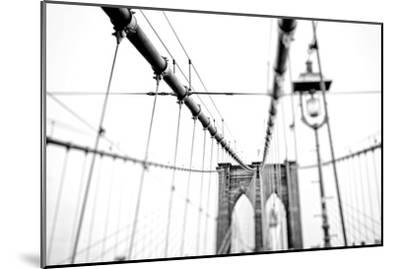 Cables Suspended from the Brooklyn Bridge-Kike Calvo-Mounted Premium Photographic Print
