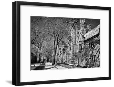 Winter Blizzard at Yale University-Kike Calvo-Framed Photographic Print