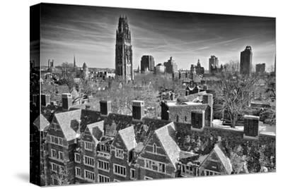 Yale University after a Winter Blizzard-Kike Calvo-Stretched Canvas Print