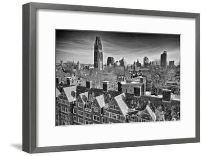 Yale University after a Winter Blizzard-Kike Calvo-Framed Premium Photographic Print