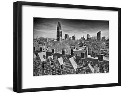 Yale University after a Winter Blizzard-Kike Calvo-Framed Photographic Print