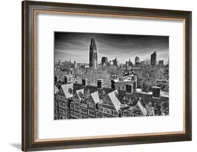 Yale University after a Winter Blizzard-Kike Calvo-Framed Photographic Print