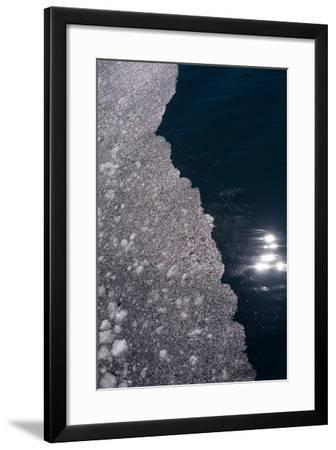 An Abstract Detail of an Iceberg-Tom Murphy-Framed Photographic Print