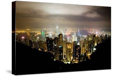 Hong Kong, China: Hong Kong Skyscrapers from High Above-Ben Horton-Stretched Canvas Print