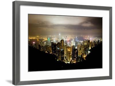 Hong Kong, China: Hong Kong Skyscrapers from High Above-Ben Horton-Framed Photographic Print
