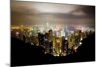 Hong Kong, China: Hong Kong Skyscrapers from High Above-Ben Horton-Mounted Photographic Print