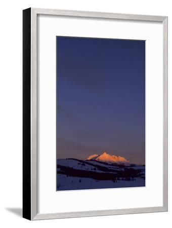 Distant View of Snow-Covered Electric Peak-Tom Murphy-Framed Photographic Print