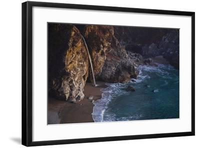 Julia Pfeiffer Burns State Park, Big Sur, California: Mcway Waterfall Just after Sunset-Ben Horton-Framed Photographic Print