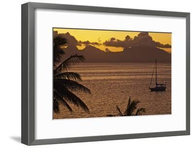 The Island of Mo'Orea as Seen from Tahiti-Mauricio Handler-Framed Photographic Print