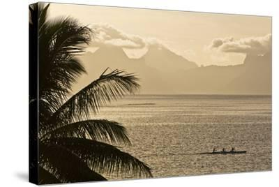 The Island of Mo'Orea as Seen from Tahiti-Mauricio Handler-Stretched Canvas Print