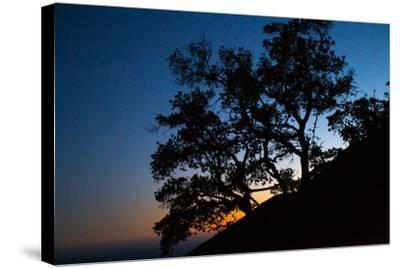 Sunset over the Santa Monica Mountains and the Pacific Ocean-Ben Horton-Stretched Canvas Print
