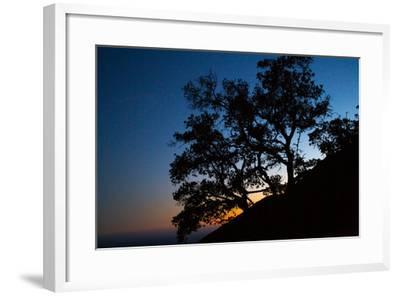 Sunset over the Santa Monica Mountains and the Pacific Ocean-Ben Horton-Framed Photographic Print