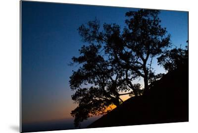 Sunset over the Santa Monica Mountains and the Pacific Ocean-Ben Horton-Mounted Photographic Print