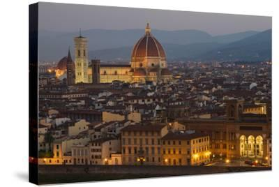 Sunrise over the Duomo and Florence Cathedral-Erika Skogg-Stretched Canvas Print