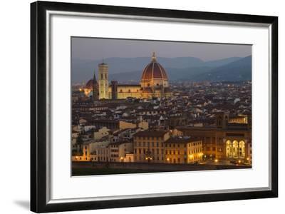 Sunrise over the Duomo and Florence Cathedral-Erika Skogg-Framed Photographic Print