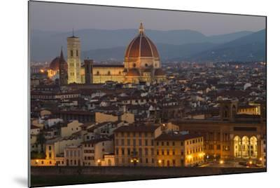 Sunrise over the Duomo and Florence Cathedral-Erika Skogg-Mounted Photographic Print
