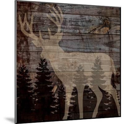 Rustic Deer-Piper Ballantyne-Mounted Art Print
