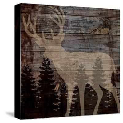 Rustic Deer-Piper Ballantyne-Stretched Canvas Print