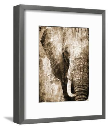African Animals I - Sepia-Eric Yang-Framed Premium Giclee Print