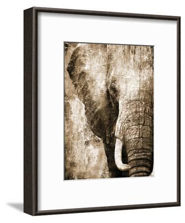African Animals I - Sepia-Eric Yang-Framed Art Print