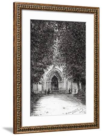 The Roman Door, L'Abbey De Blassimon, 2010-Vincent Alexander Booth-Framed Giclee Print
