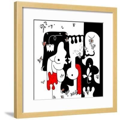 Annimo Lovers In Japan--Framed Art Print