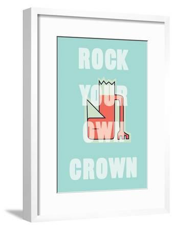 Annimo Rock Your Own Crown--Framed Art Print