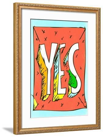 Yes by Annimo--Framed Art Print