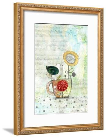 Bird on a Tea Cup-Sarah Ogren-Framed Art Print