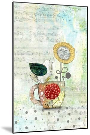 Bird on a Tea Cup-Sarah Ogren-Mounted Art Print