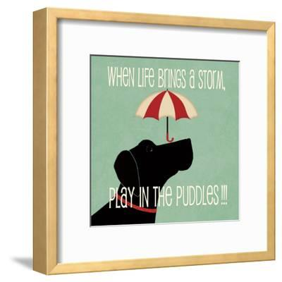 Puddles-Jo Moulton-Framed Art Print