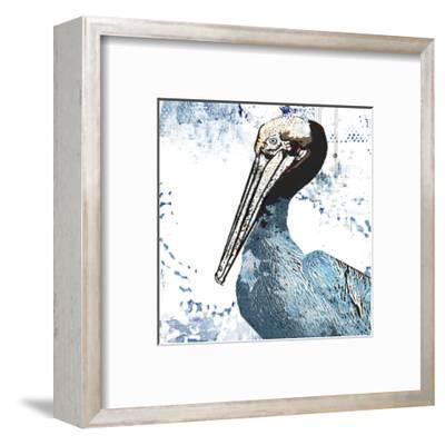 Blue Pelican-Sarah Ogren-Framed Art Print
