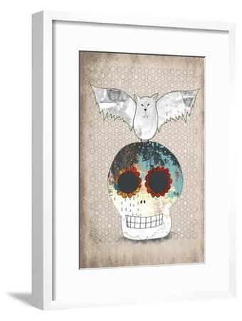 Skull and Bat-Sarah Ogren-Framed Art Print