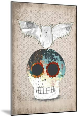 Skull and Bat-Sarah Ogren-Mounted Art Print