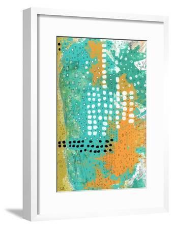 Orange and Green Abstract-Sarah Ogren-Framed Art Print