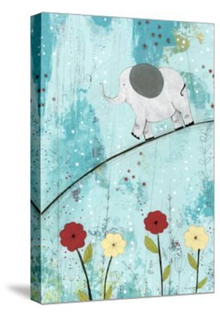 Baby Elephant Walk-Sarah Ogren-Stretched Canvas Print