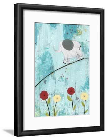 Baby Elephant Walk-Sarah Ogren-Framed Art Print