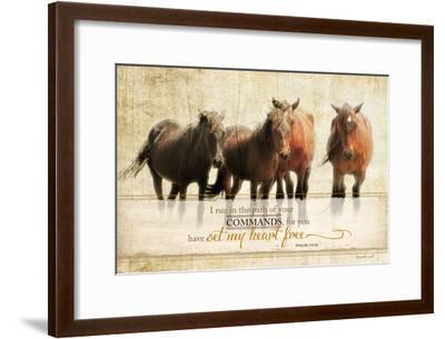 I Run-Jennifer Pugh-Framed Art Print